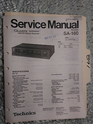 TECHNICS SA-160 SERVICE manual original repair book stereo receiver tuner  radio