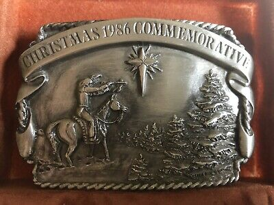 Limited Edition 1986 Christmas Commemorative Belt Buckle. Collector! Never Used