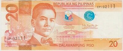 (N23-29) 2018 Philippines 20 Peso bank note (AD)