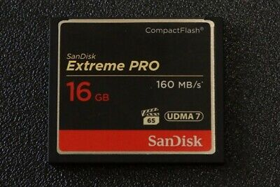SanDisk Extreme Pro 16GB 160MB/s UDMA 7 Compact Flash Card