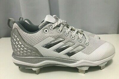 e15f180790a5 Adidas Power Alley 5 Men's Baseball Cleats Sz 6.5 White, Gray (B39190)