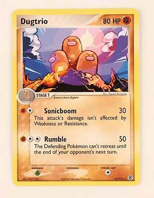 Pokemon Fire Red Leaf Green Dugtrio 22/112 trading card - near mint / mint