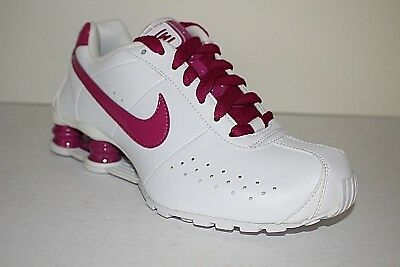 new concept daec5 f92d8 Nike Shox Classic II Women s Leather White Rave Pink Running Rare 343907 102