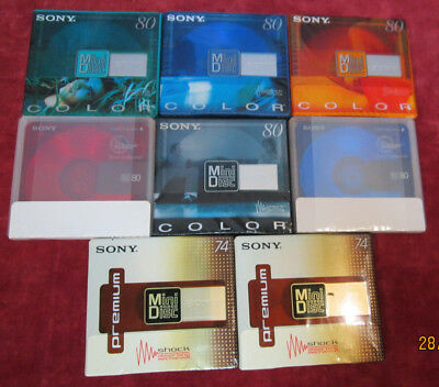 8 x neue Sony Color Collection/Premium 80/74 min. - Minidisc MD