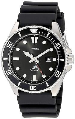 Casio Men's Black Analog Anti Reverse Bezel Watch MDV106-1A
