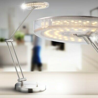 Moderne 4 Watt Lampe de Table Bureau Salon LED Nickel