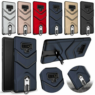 For Samsung Galaxy Note 9 8 Shockproof 360 Ring Holder TPU Armor Hard Case Cover