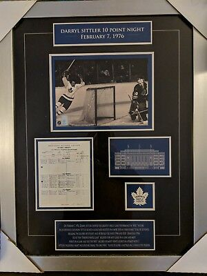 Darryl Sittler 10 Point Game Toronto Maple Leafs Framed Picture And Scorecard