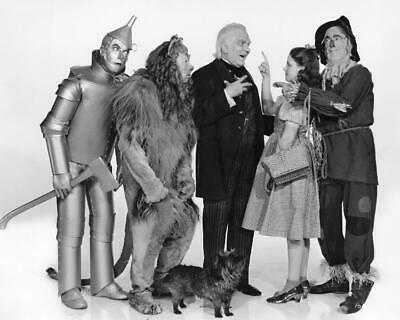 The Wizard Of Oz Judy Garland Jack Haley Bert Lahr Ray Bolger 8x10 Photo (WO-2)