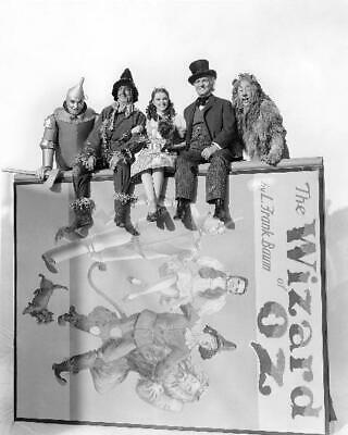 The Wizard Of Oz Judy Garland Jack Haley Bert Lahr Ray Bolger 8x10 Photo (WO-3)