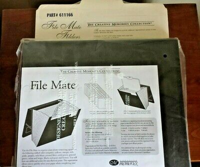 Creative Memories Collection File Mate & 13 File Mate Folders Both NEW unopened