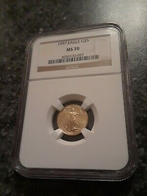 1997 $5 Gold Eagle 1/10 oz, MS70, NGC LOWEST PRICE !!!