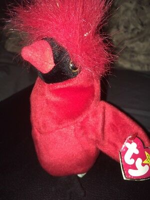 452de64adb6 RARE MAC RED Beanie Baby Bird TY with 4 Errors Original
