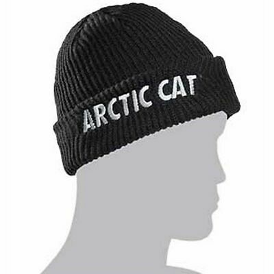 Arctic Cat Watchman Beanie Hat - Black with Camouflage Lining - One Size Men's