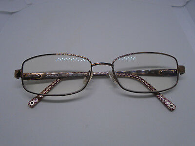 e5e7c7dc586d COACH Womens Eyeglasses WENDY 129 Shiny Sand 53-16-135 Rx Metal Glasses  Frames
