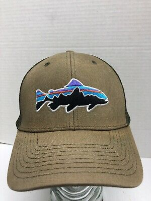 c39f85d3680 RARE VINTAGE PATAGONIA fitz roy trout hat With Adjustable Clip Back ...
