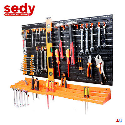 New 52Pc Wall Mounted Tool Storage Rack Wrench Spanner Holder WorkShop Organizer