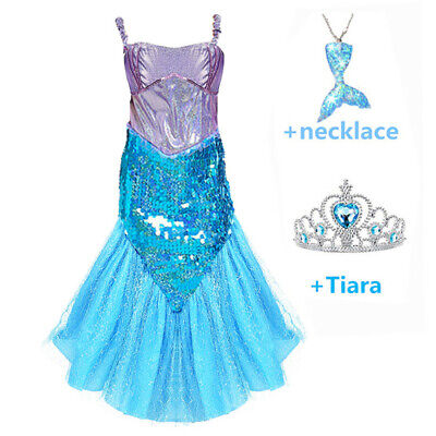 1d5fe1d78a58d KIDS GIRLS SHINY Sequins Mermaid Tails Party Holiday Costume Outfits Fancy  Dress