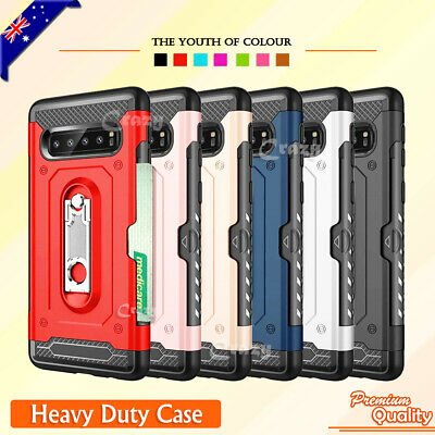 Galaxy S10 S10e S10+ Plus Case Slide Armor Wallet Card Slot Cover for Samsung