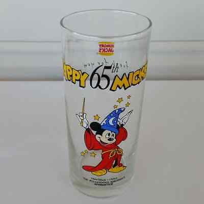 Disney Mickey Mouse Hungry Jacks Promotional Glass Tumbler 65th Birthday