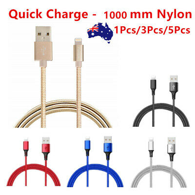1M Lightning USB Charger Lead Cable For Genuine Apple iPhone x 7 6 5 iPad 4 Air