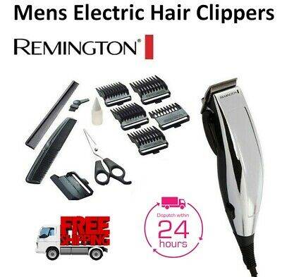 Remington Mens Hair Clippers Electric Haircut Trimmer Kit Corded with Guides NEW