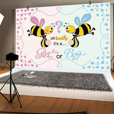 Gender Reveal Photography Backdrops Boy or Girl Baby Shower Party Supplies Decor