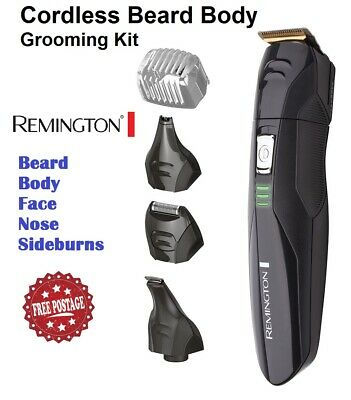 Remington Mens Beard Shaver Clipper Trimmer Body Grooming Kit Cordless Electric