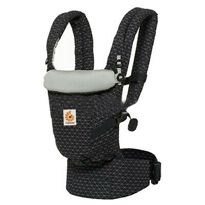 51f3825a0c9 ERGO ADAPT 3 POSITION COTTON Baby Carrier Backpacks Slings Black Lattice  Pattern
