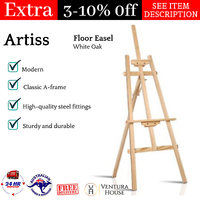 Wooden Adjustable Floor Easel Portable Canvas Stand for Art Activity & Decor NEW