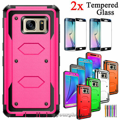For Samsung Galaxy S7 / S7 Edge Shockproof Armor Rugged Rubber Impact Case Cover