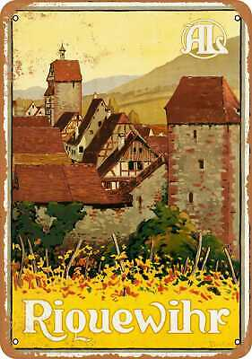 Metal Sign - Riquewihr France - Vintage Look Reproduction
