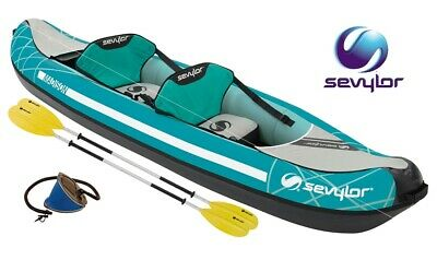 Canoa Kayak Gonfiabile Madison Kit Sevylor Con Manometro Borsa Pinna E 2 Pagaie