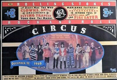 Poster Rolling Stones Spettacolo Rock And Roll Circus 1968