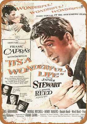 Metal Sign - 1946 It's A Wonderful Life Movie - Vintage Look Reproduction