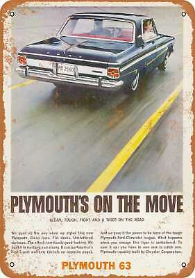 Metal Sign - 1963 Plymouth Fury - Vintage Look Reproduction