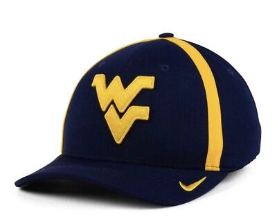 New West Virginia Mountaineers Aerobill Sideline Nike Hat Cap Small Medium aba178300