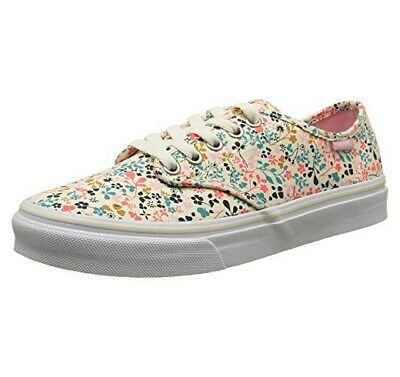 cbfe56aebf Vans Camden Stripe Girls Trainers Floral Shoes Ditsy Flowers Cream White  Size 4