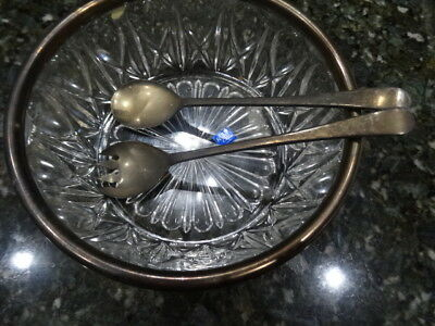Crystal And Silver Bowl, Sale Very Very Old And Rare