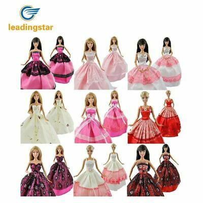 5 Pcs/lot Fashion Handmade Clothes Dresses Grows Outfit for Barbie Doll dress fo