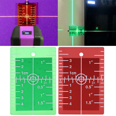 Laser Target Card Plate For Green and Red Laser Level Target Plate inch/cm