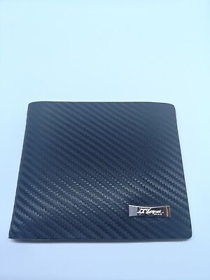 D-170408 Dupont Defi Punched Black Leather 4CC Billfold Wallet New S.T