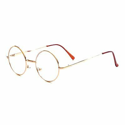 66e3450e74 JOHN LENNON VINTAGE 60s Round Metal Frame Trendy Clear Lens Eye Glasses GOLD