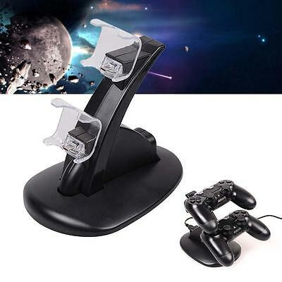 PlayStation PS4 LED Charger Dock Dual Controller USB Charging Station Stand k456