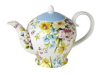 KATIE ALICE 'English Garden' SHABBY CHIC 6 Cup Porcelain TEAPOT 6 Cups, 1300 ml