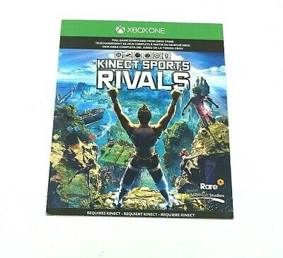 XBOX ONE KINECT SPORTS RIVALS REQUIRES KINECT software Card no CD