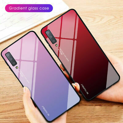 Shockrpoof Gradient Tempered Glass Case Cover For Samsung Galaxy A6 A7 A8 2018