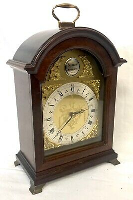 Lovely Vintage Garrard Comitti Of London Arched Dial Mantel Clock 8 Day Movement