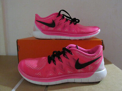 Details about Womens NIKE FREE 5.0 Pink Running Trainers 642199 641