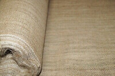10oz Natural Raw Hessian 100% Jute Burlap Fabric Quality Material 150cm wide